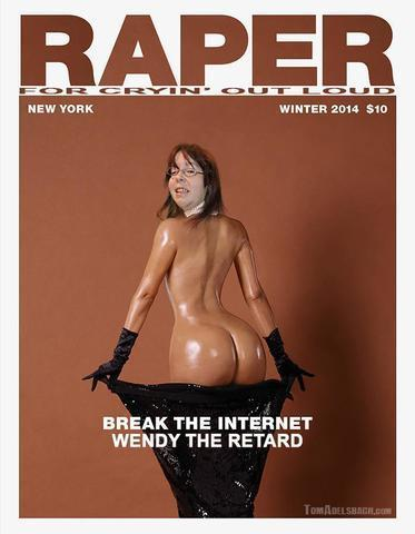 Wendy the Retard topless photoshoot