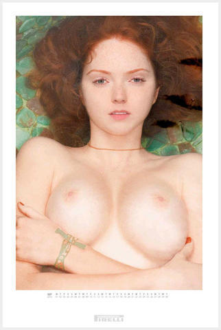 Lily Cole topless snapshot