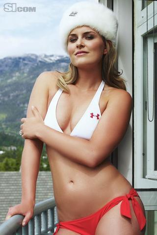 models Lindsey Vonn 20 years Without slip pics beach