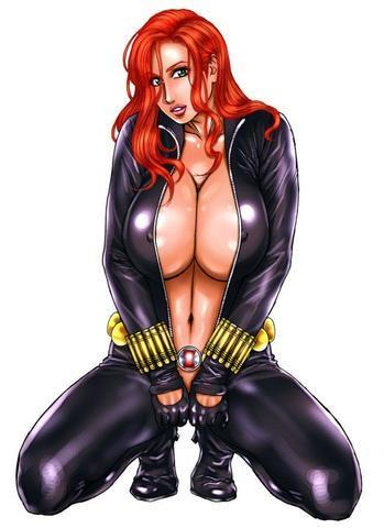 Hot image Black Widow tits