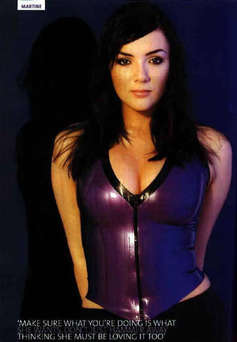 actress Martine McCutcheon 18 years arousing picture in public