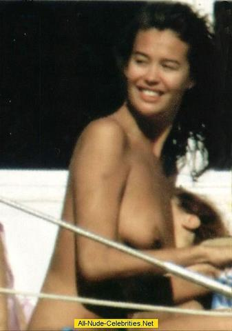 models Megan Gale 18 years mammilla image in public