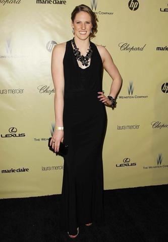 models Missy Franklin 22 years provoking art in public