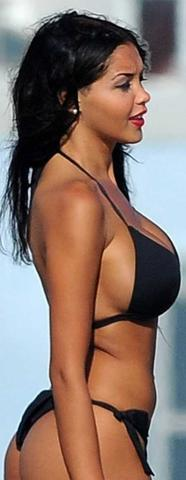 models Nabilla Benattia 24 years uncovered pics beach