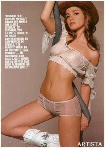 models Natalia Oreiro 19 years sensuous image in the club