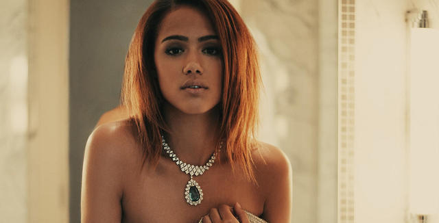 celebritie Nathalie Emmanuel young in the altogether art in the club