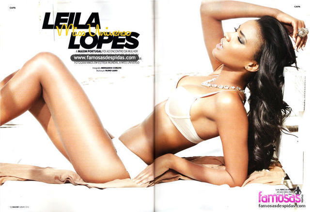 models Leila Lopes 19 years unclad foto beach