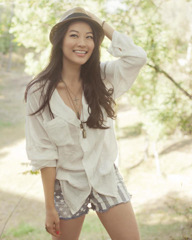 actress Arden Cho 25 years melons pics beach