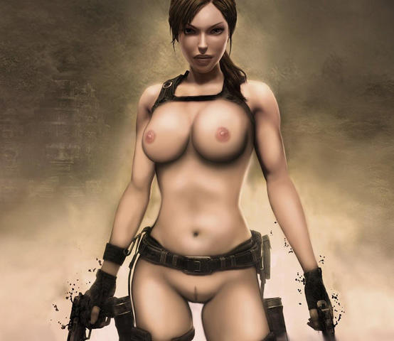 Laura Croft topless image