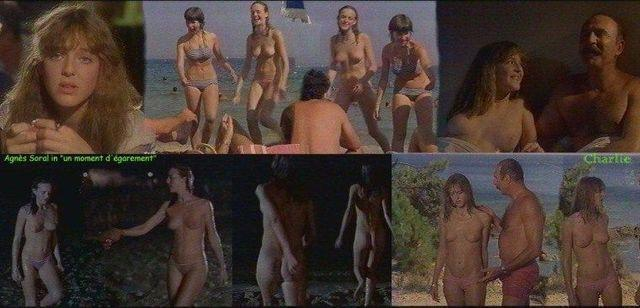 celebritie Agnès Soral 23 years the nude foto in public