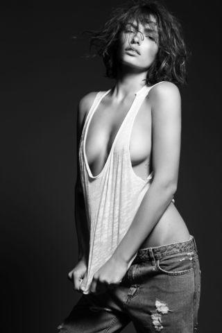 models Alyssa Miller 2015 chest image in the club