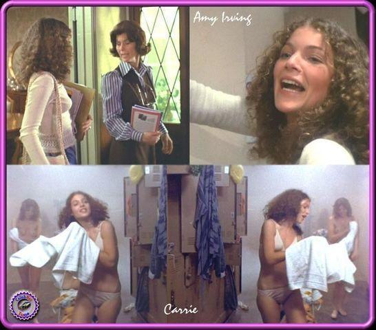 actress Amy Irving 18 years breasts photoshoot in the club