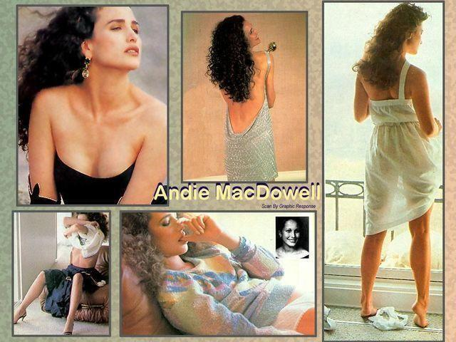 actress Andie MacDowell teen chest photoshoot home