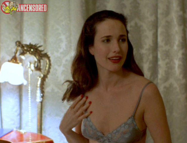 models Andie MacDowell young barefaced art home