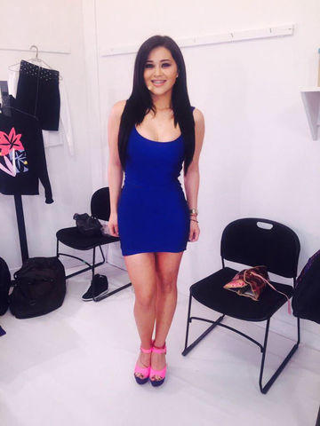 celebritie Aracely Ordaz Campos - Gomita 18 years natural photo in public