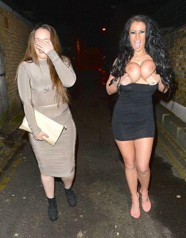 models Becky Constantinou young Without brassiere art in the club
