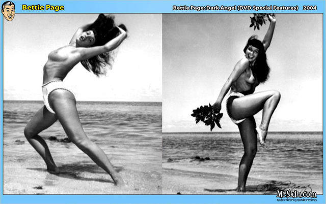 models Bettie Page 24 years provocative photography beach