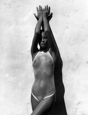 models Christy Turlington young private foto in the club