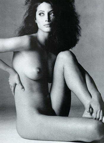 models Christy Turlington 21 years stripped snapshot in the club