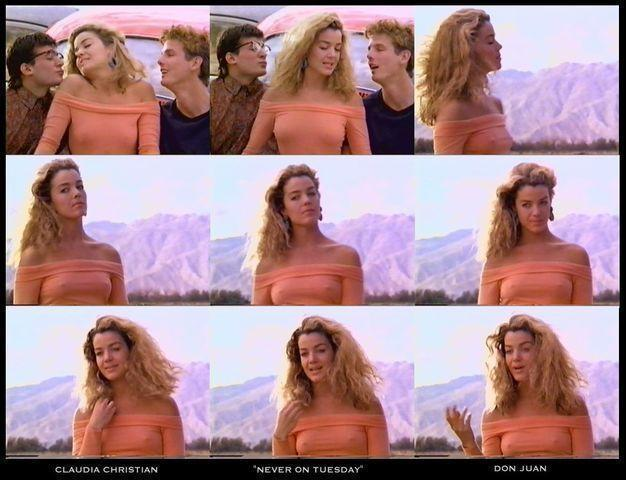 celebritie Claudia Christian 19 years undressed photos in the club
