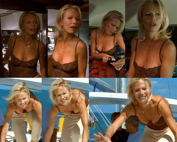 celebritie Claudine Wilde 22 years bust image beach