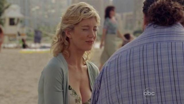 actress Cynthia Watros 20 years titties art in public