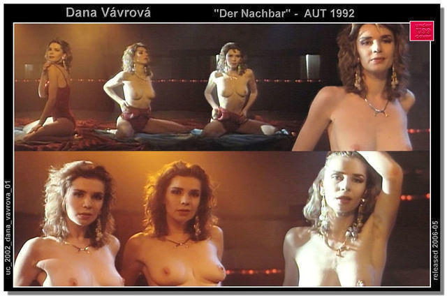 actress Dana Vavrova 19 years stolen photoshoot in the club