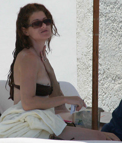 models Debra Messing 2015 Without swimsuit snapshot in public