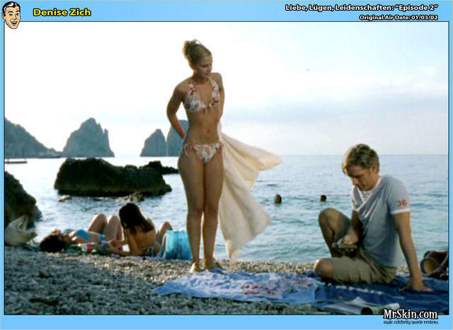 actress Denise Zich 18 years natural image beach