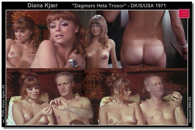 celebritie Diana Kjaer young undressed snapshot in the club