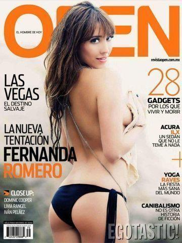 celebritie Fernanda Romero 24 years indecent foto in public