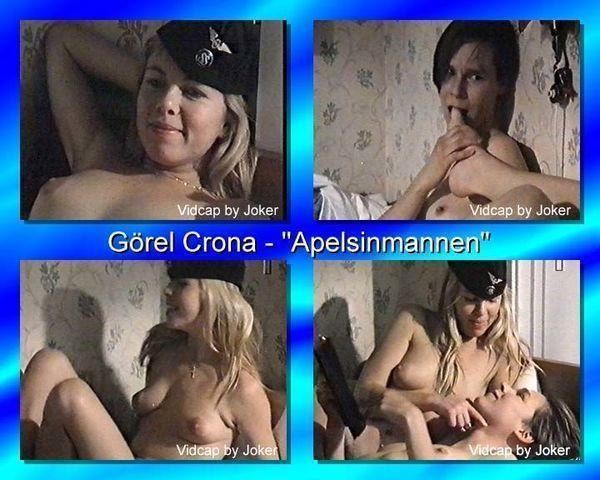 actress Görel Crona young Without brassiere image in public