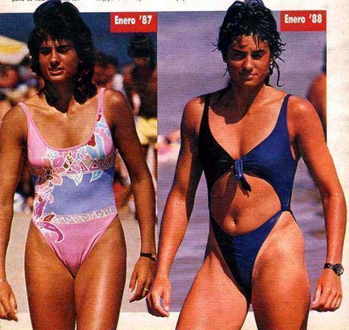 models Gabriela Sabatini 21 years uncovered photography beach