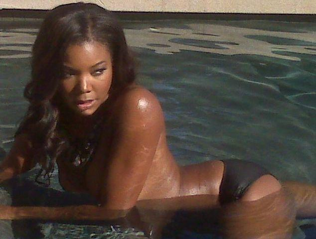 celebritie Gabrielle Union young prurient photoshoot in the club