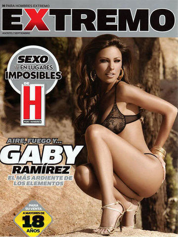 celebritie Gaby Ramírez 24 years crude pics beach