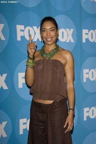 actress Gina Torres 23 years tits art beach