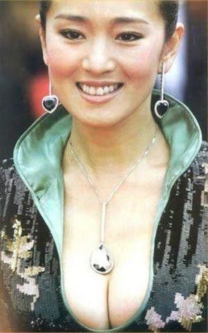 actress Gong Li young in the altogether foto in public