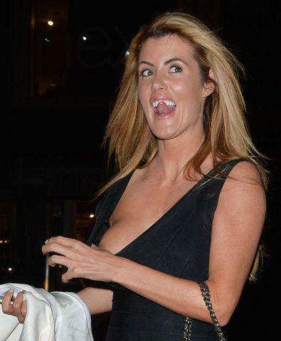 models Helen Wood 21 years in the altogether photo in public