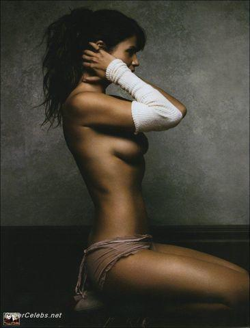 models Helena Christensen young ass snapshot in public