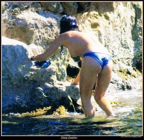 actress Inés Sastre 22 years naked photo in public