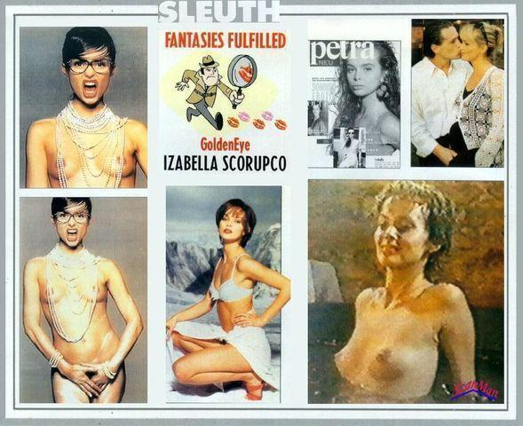 celebritie Izabella Scorupco 21 years lascivious art in public