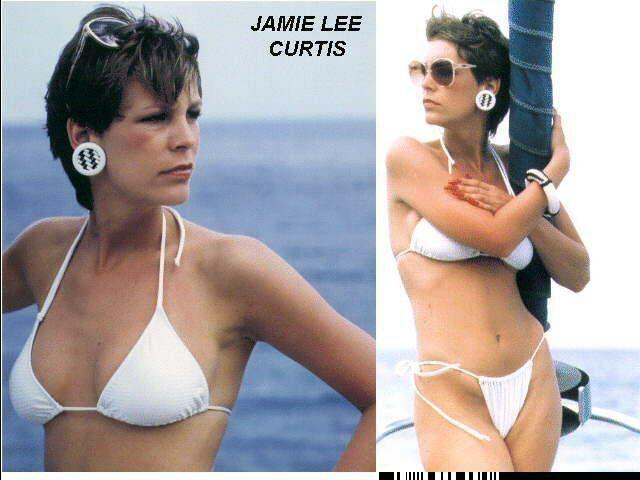 models Jamie Lee Curtis 21 years Without slip photo beach
