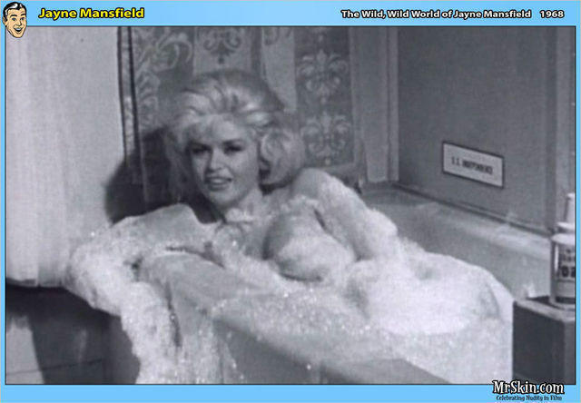 actress Jayne Mansfield 23 years bare-skinned pics in public
