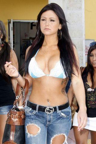 celebritie Jenni JWoww Farley young concupiscent art in public