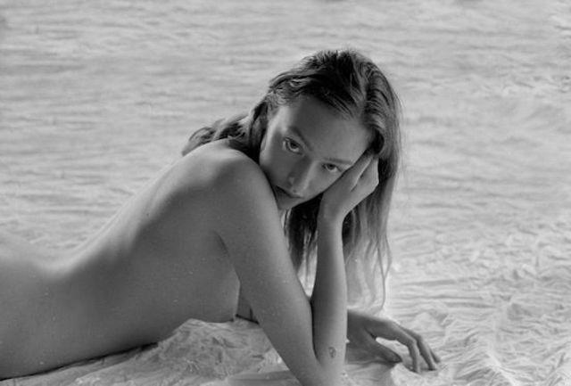 models Johanna Stickland 2015 in the altogether art beach