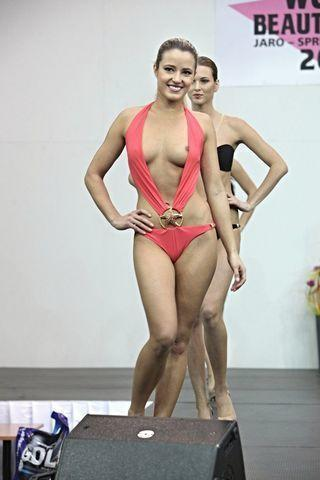 models Katerina Baluskova 24 years Without swimming suit snapshot in public