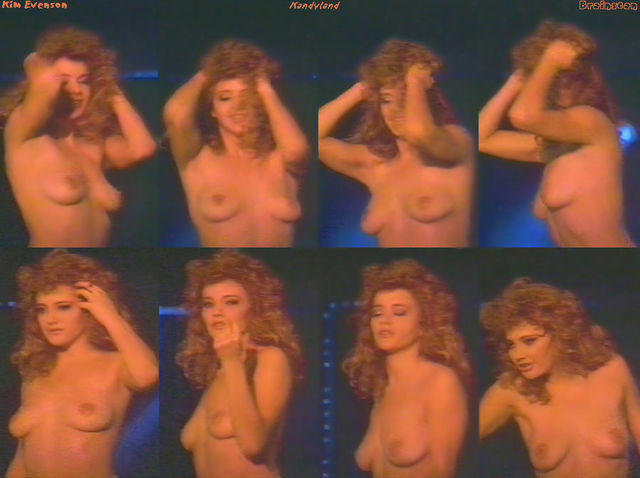 actress Kim Evenson 25 years Without swimsuit photos in the club