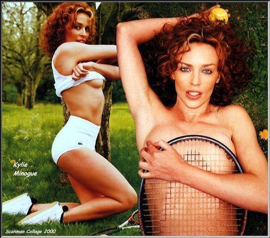 celebritie Kylie Minogue 24 years mammilla photos in public