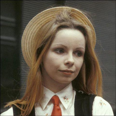 models Lalla Ward young natural snapshot in public