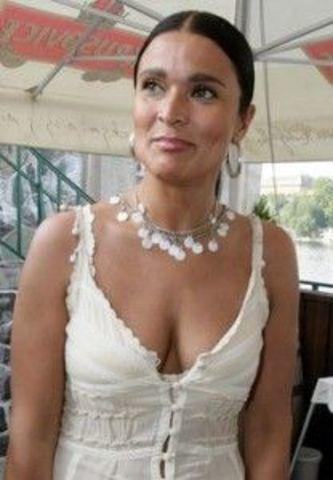 actress Mahulena Bočanová 21 years Without brassiere photos in public